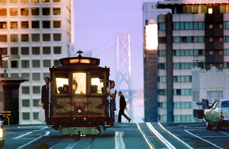 Trolley car in San Francisco